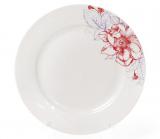 """Набор 6 фарфоровых десертных тарелок """"Цветы"""" Ø19см"""