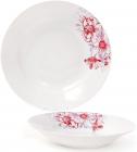 """Набор 6 фарфоровых суповых тарелок """"Цветы"""" Ø23см, порционные"""