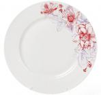 """Набор 6 фарфоровых обеденных тарелок """"Цветы"""" Ø23см"""