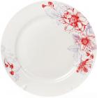 """Набор 6 фарфоровых обеденных тарелок """"Цветы"""" Ø27см"""