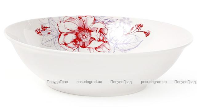 """Салатник фарфоровый """"Цветы"""" 1200мл Ø23см"""