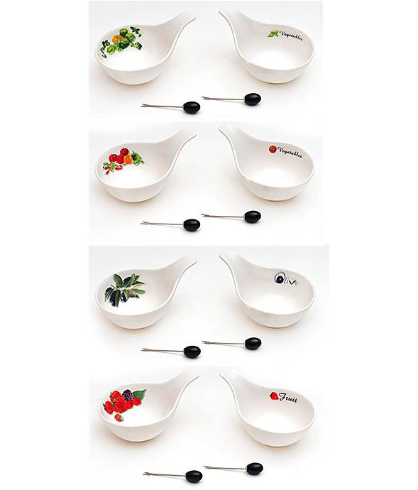 Набор 2 пиалы Bona 15см сервировочных с вилочками