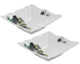 Набор 2 квадратные тарелочки-оливницы Bona 15х15 см