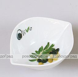Оливница Bona 9х9х4,5см ветка оливы