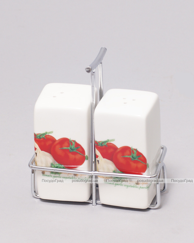 Набор спецовников Bona Tomatoes (соль/перец) на металлической подставке