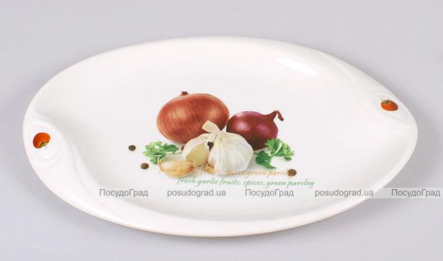 """Блюдо сервировочное Bona Fresh Salad """"Лук чеснок"""" овальное 30х20см"""