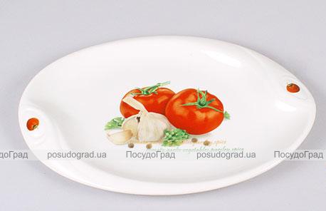 """Блюдо сервировочное Bona Fresh Salad """"Помидоры"""" овальное 30х20см"""