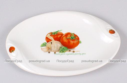 """Блюдо сервировочное Bona Fresh Salad """"Помидоры"""" овальное 25х17см"""