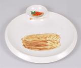 Тарілка (блюдо) Bona для млинців Ø34см з піалою для ікри, соусів або варення
