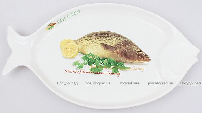 """Блюдо для рыбы Sea Food """"Лимон и зелень"""" 30х17см"""