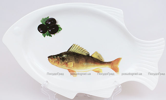"""Блюдо для рыбы Sea Food """"Оливки"""" 30х28см"""