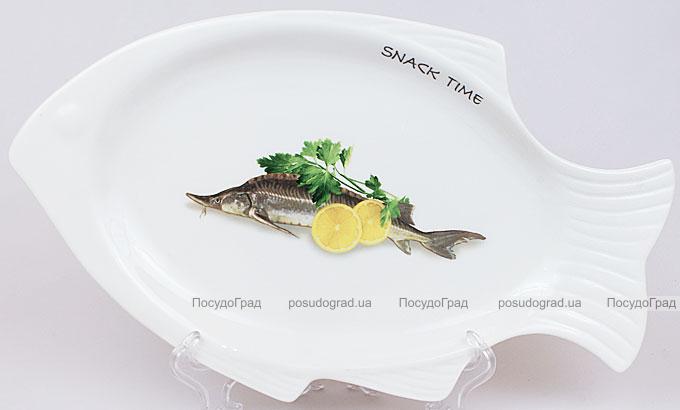 """Блюдо для рыбы Sea Food """"Лимон и зелень"""" 30х18см"""