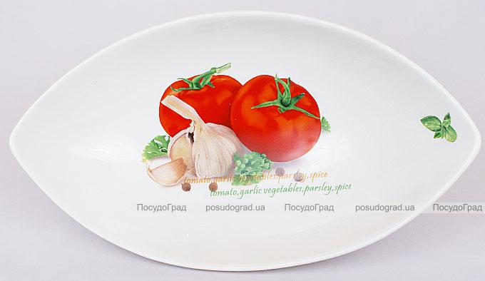 """Салатник сервировочный Fresh Salad """"Помидоры"""" гондола 31х17см"""