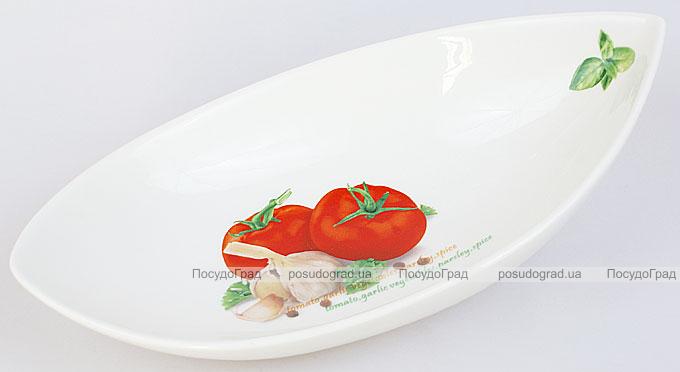 """Салатник сервировочный Fresh Salad """"Помидоры"""" гондола 26х14см"""