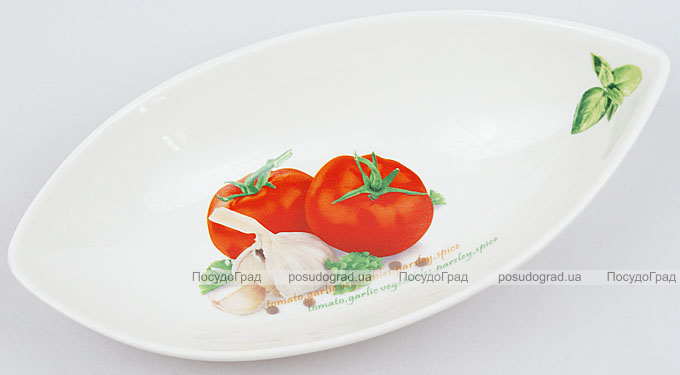 """Салатник сервировочный Fresh Salad """"Помидоры"""" гондола 21х11см"""