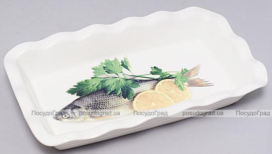 """Блюдо Bona """"Рыба, зелень и лимон"""" для заливного 27х15см"""