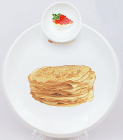 Тарілка Bona для млинців Ø28см з піалою для ікри, соусів або варення