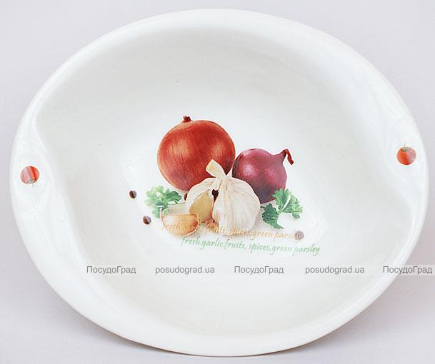 "Салатник Fresh Salad ""Лук чеснок"" фарфор 18х15см"