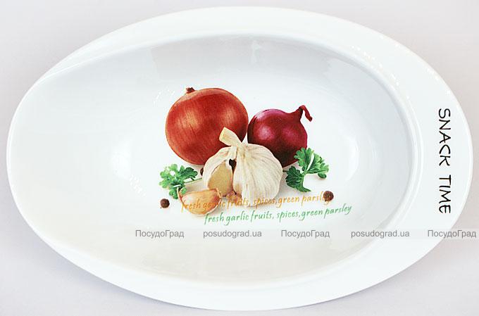 "Салатник Fresh Salad ""Лук чеснок"" фарфор 23х15см"