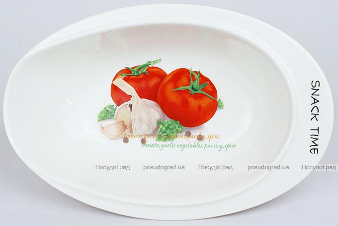 """Салатник Fresh Salad """"Помидоры"""" фарфор 23х15см"""