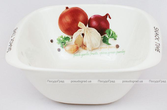"Салатник Fresh Salad ""Лук чеснок"" фарфор 17х14см"