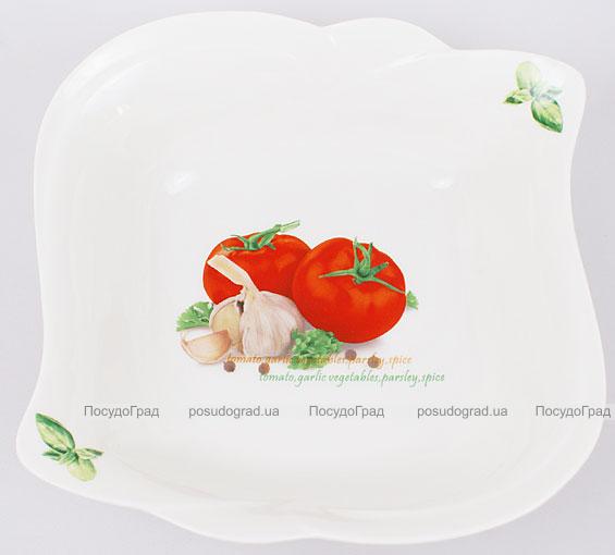"""Салатник Fresh Salad """"Помидоры"""" фарфор 20х20см"""