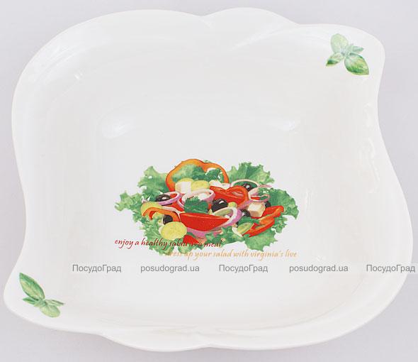 Салатник Fresh Salad фарфор 20х20см