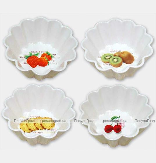 Набор 2 салатника Bona Fresh Ø13см Волнистый конус