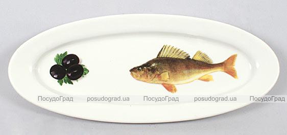 """Блюдо для рыбы Sea Food """"Оливки"""" овальное 30х12см"""