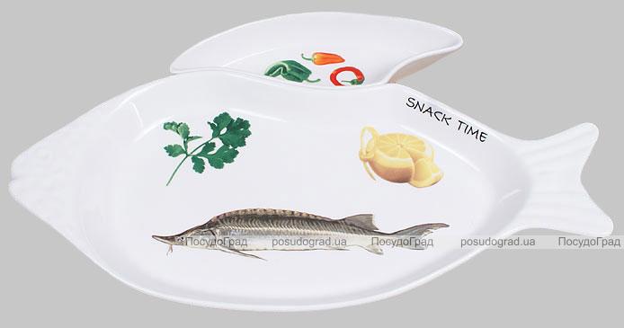 Набор Sea Food блюдо для рыбы 40х18см и приставная пиала 10х8см