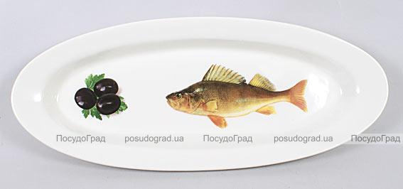 """Блюдо для рыбы Sea Food """"Оливки"""" овальное 35х15см"""