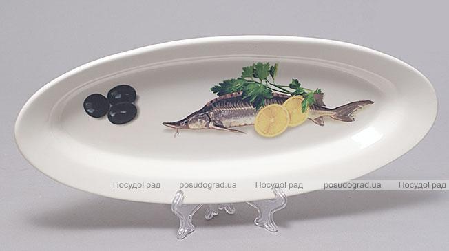 """Блюдо для рыбы Sea Food """"Оливки, лимон, зелень"""" овальное 35х15см"""