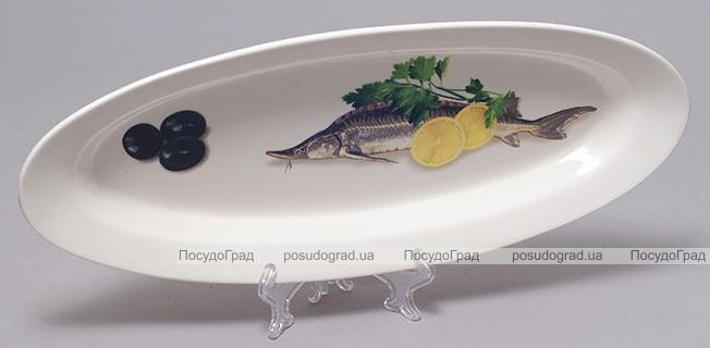 "Блюдо для рыбы Sea Food ""Оливки, лимон, зелень"" 35х15см"