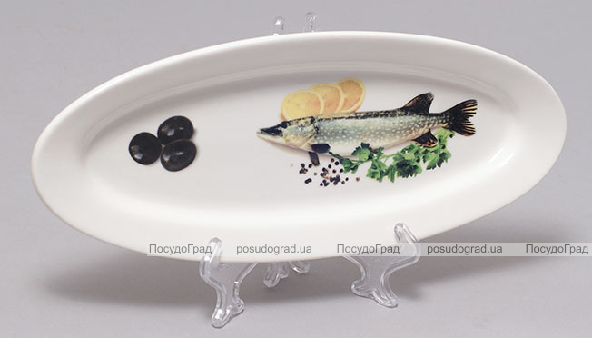 "Блюдо для рыбы Sea Food ""Оливки, лимон, зелень"" 26х10см"