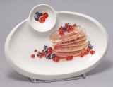 Тарілка Bona для млинців овальна 30х21см з піалою для ікри, соусів або варення