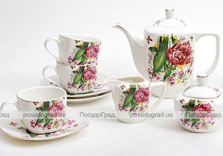 Чайный сервиз Farm Garden A09 270мл 15 предметов на 6 персон