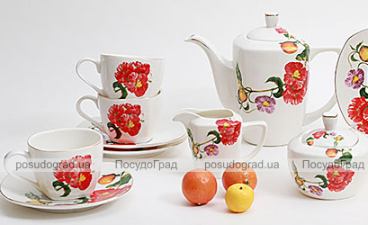Чайный сервиз Farm Garden A11 270мл 15 предметов на 6 персон
