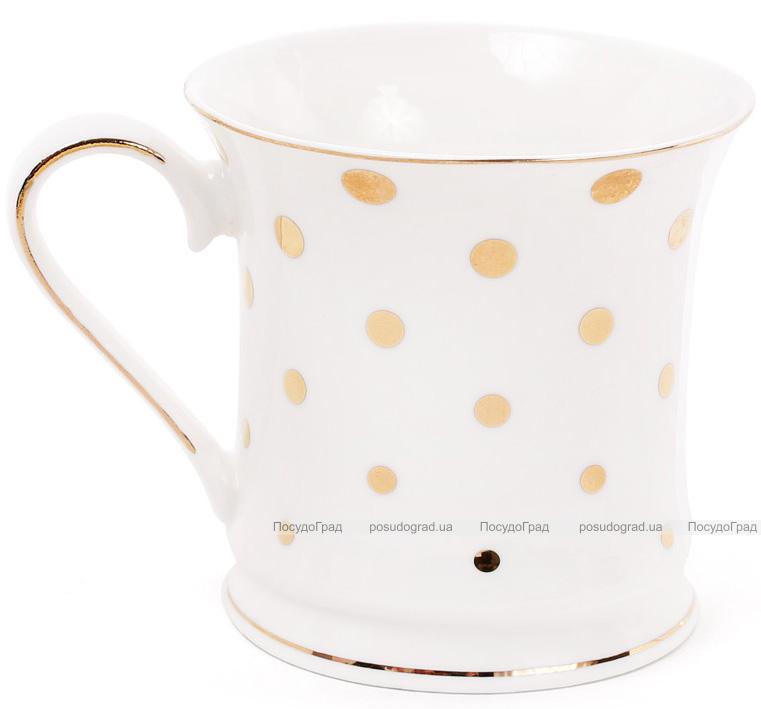 """Кружка (чашка) Golden Iris """"Золотой горох"""" фарфоровая 375мл"""