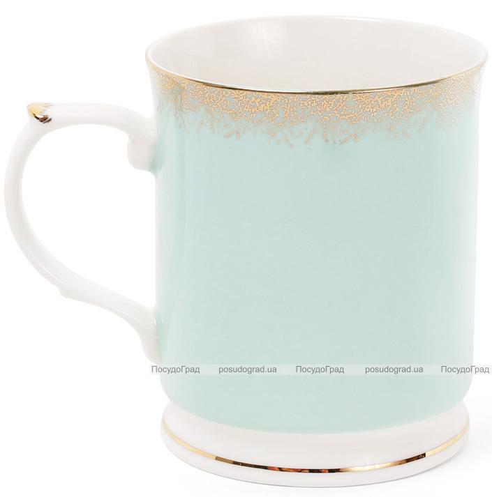 """Кружка (чашка) Golden Iris """"Мятная с золотой россыпью"""" 400мл"""
