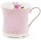 """Кружка (чашка) Golden Iris """"Рожевий Ірис в золотом"""" 375мл"""