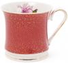 """Кружка (чашка) Golden Iris """"Розовый Ирис в бордовом"""" 375мл"""