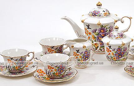 Чайный сервиз Farm Garden D09 200мл 15 предметов на 6 персон