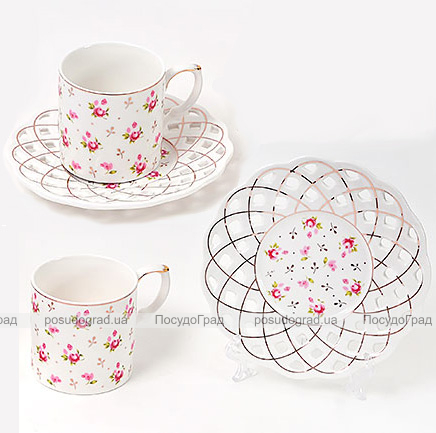 """Кофейный набор """"Romantic"""" 2 чашки 175мл и 2 блюдца"""