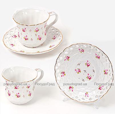 """Кофейный набор """"Romantic"""" 2 чашки 180мл и 2 блюдца"""