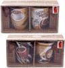 """Набор 2 кружки """"Coffee in the town"""" 350мл с керамическими ложками, в подарочной коробке"""