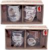 """Набор 2 кружки """"Retro Coffee"""" 350мл с керамическими ложками, в подарочной коробке"""