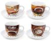 "Кофейный набор ""Coffee shop&bakery"" 4 чашки 225мл с блюдцами"