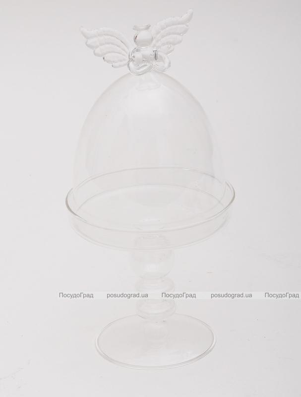 Бонбоньерка Luton стеклянная 11x22см