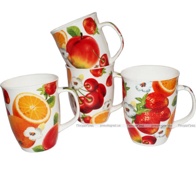 """Фарфоровая кружка """"Яркие фрукты"""" 310мл"""