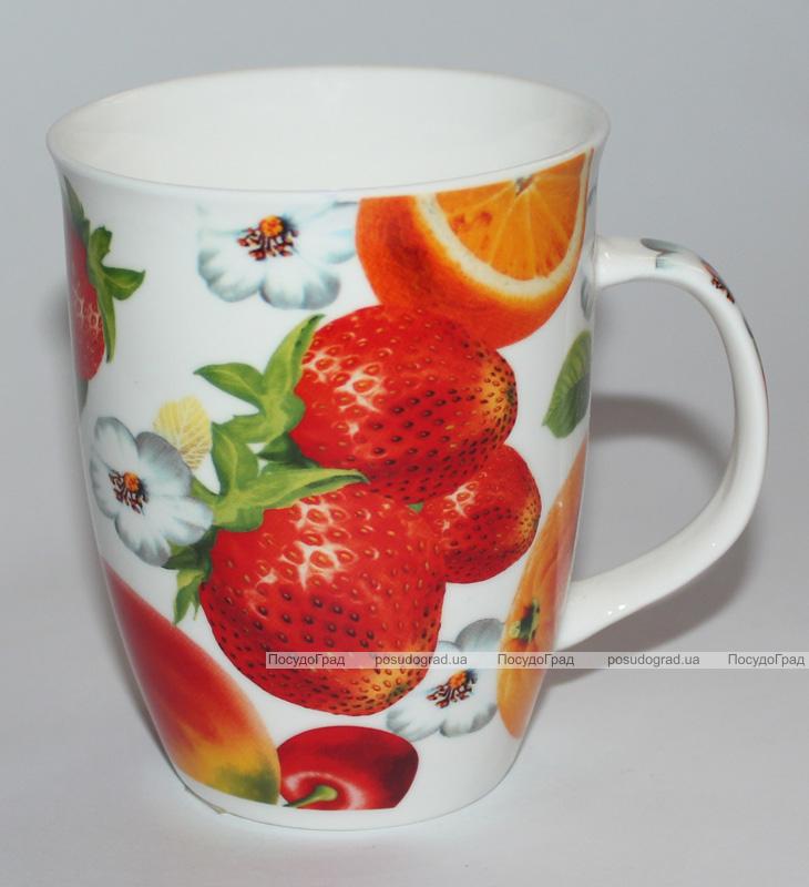 """Фарфоровий кухоль """"Яскраві фрукти"""" 310мл"""